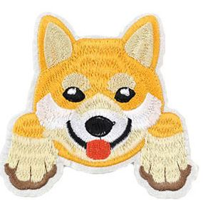 Shiba Inu Embroidered Patch